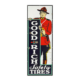 Canadian 1930s Goodrich Tires Mountie porcelain sign, estimated at CA$16,000-$20,000