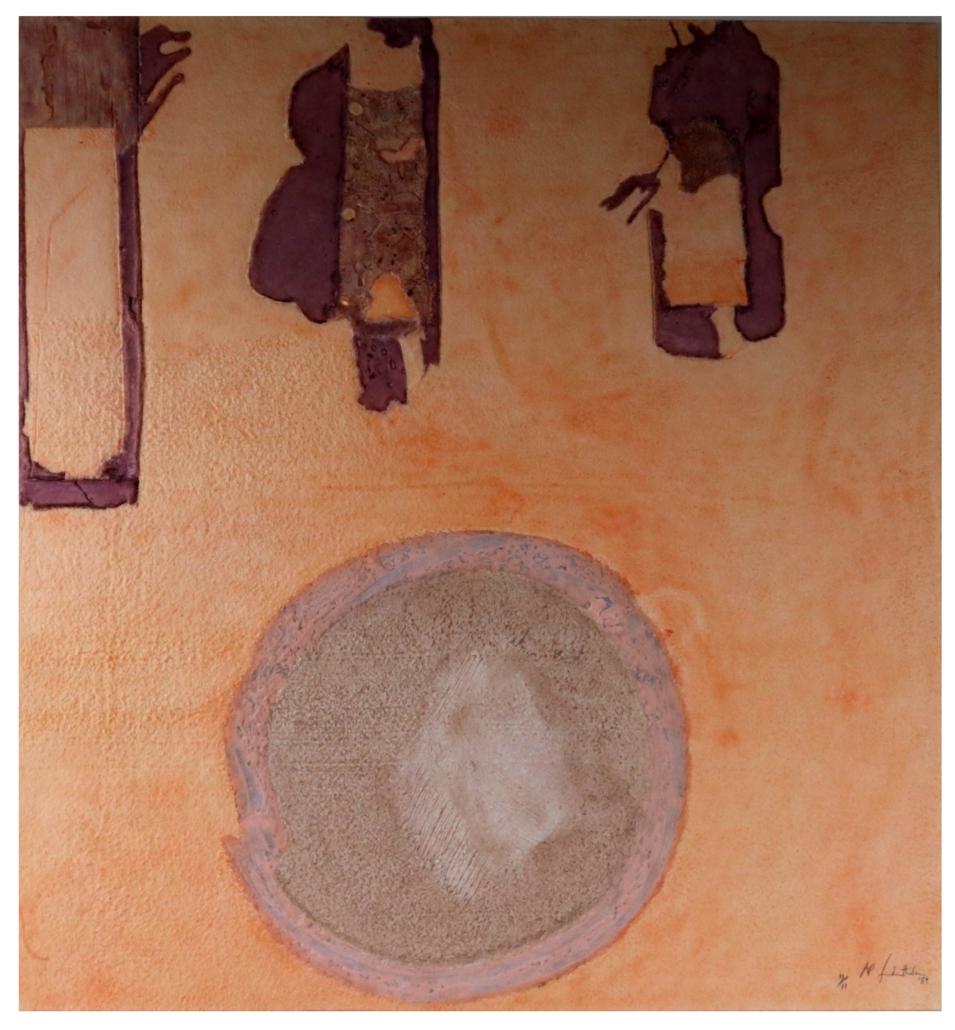 A Mixografia print on handmade paper by Helen Frankenthaler