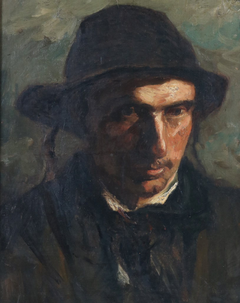 A portrait of a gentleman by Jozef Israels