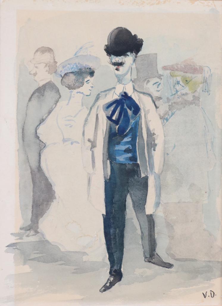Kees Van Dongen's watercolor of a man