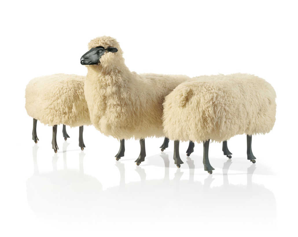 Francois-Xavier Lalanne, Moutons de Laine (Woolen sheep), detail, 1968–71.