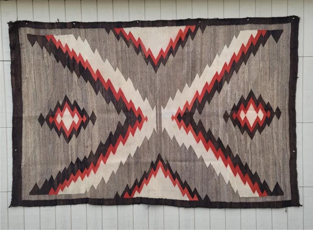 Circa 1915-1930 large Navajo Ganado rug