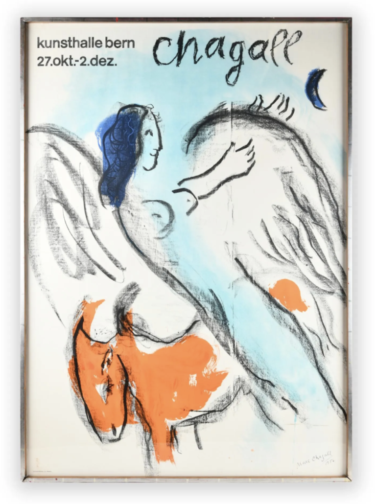 A lithograph poster after Marc Chagall, estimated at $800-$1,200