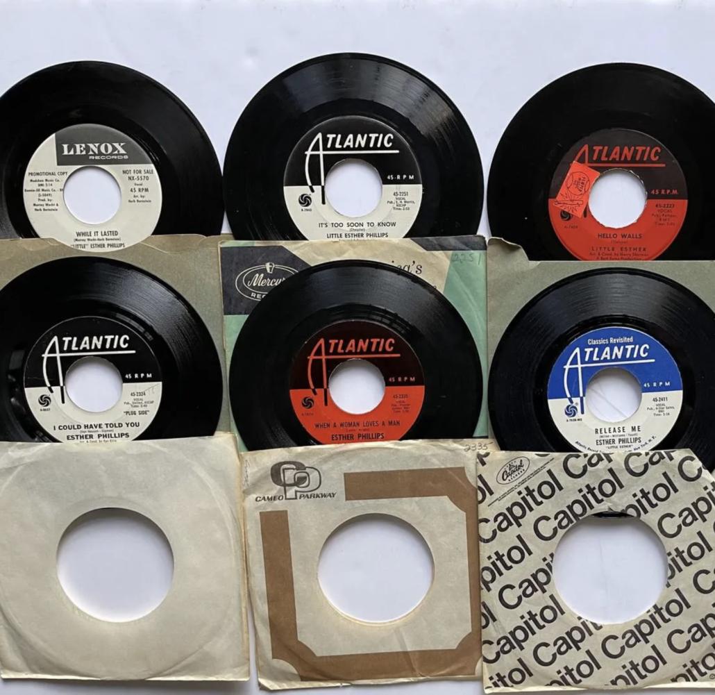 Little Esther Phillips DJ promo set of 45s, estimated at $135-$335