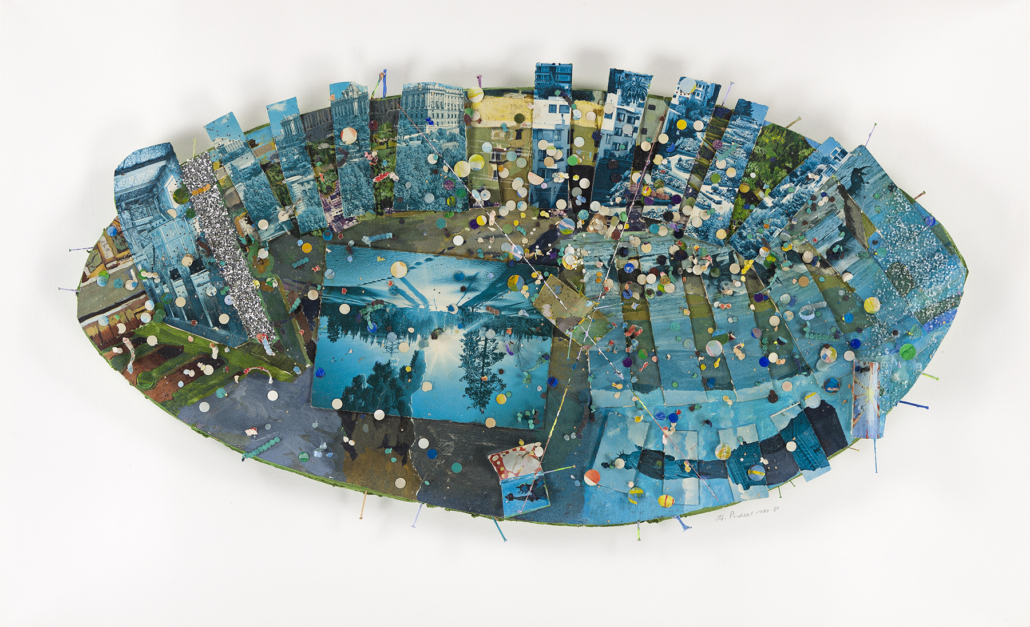 Howardena Pindell, 'Oval Memory Series: (Rhinoceros) Heaven,' which sold for $100,000