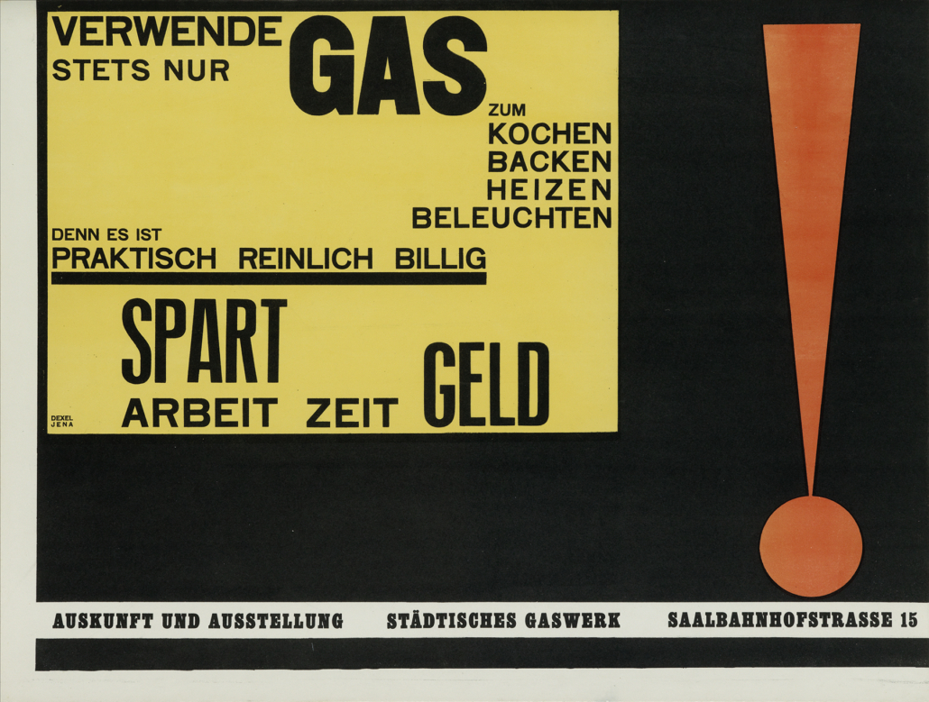 Walter Dexel, 'Verwende Stets Nur Gas,' estimated at $20,000-$30,000