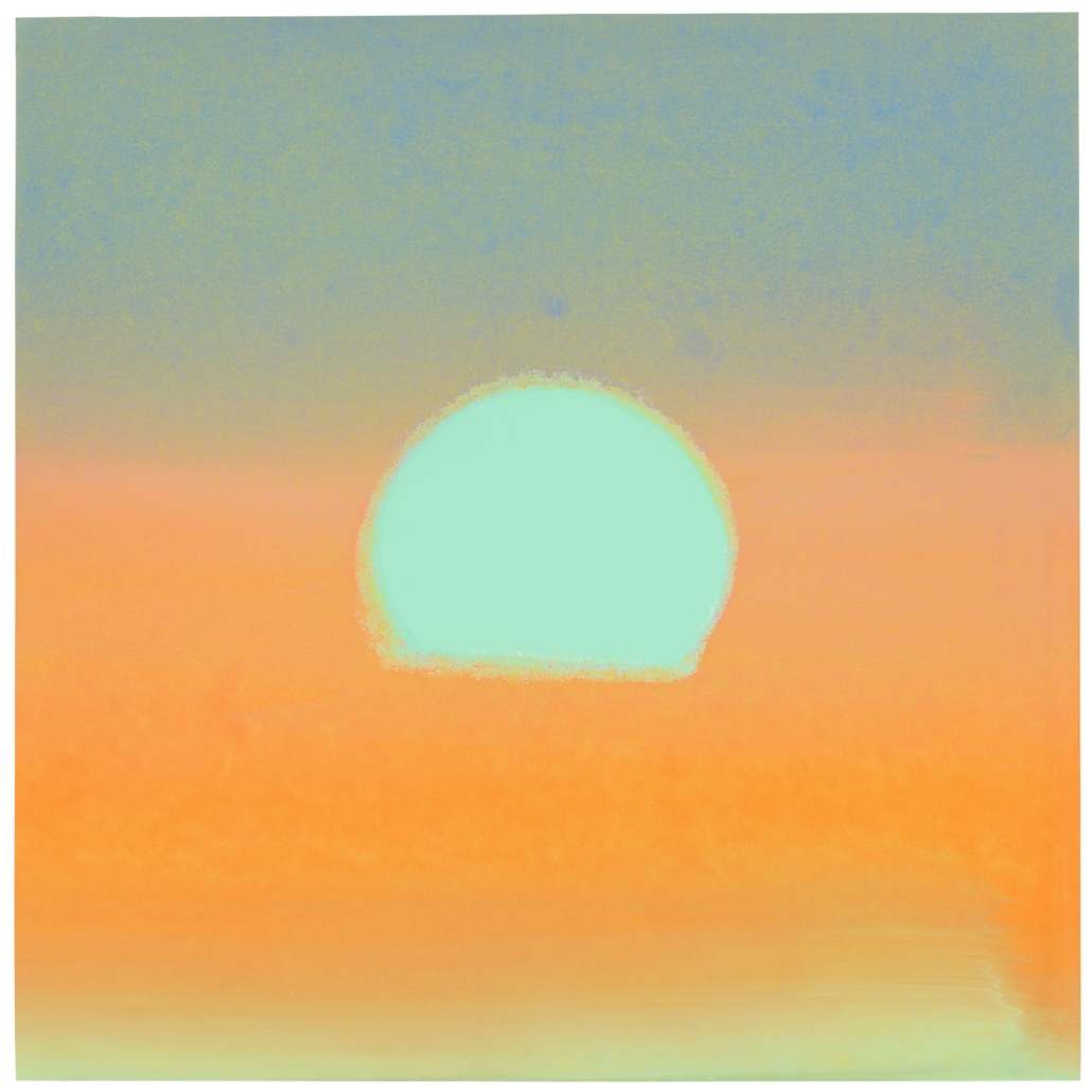 Andy Warhol's 'Sunset' sold for £118,750 against an estimate of £50,000-£70,000
