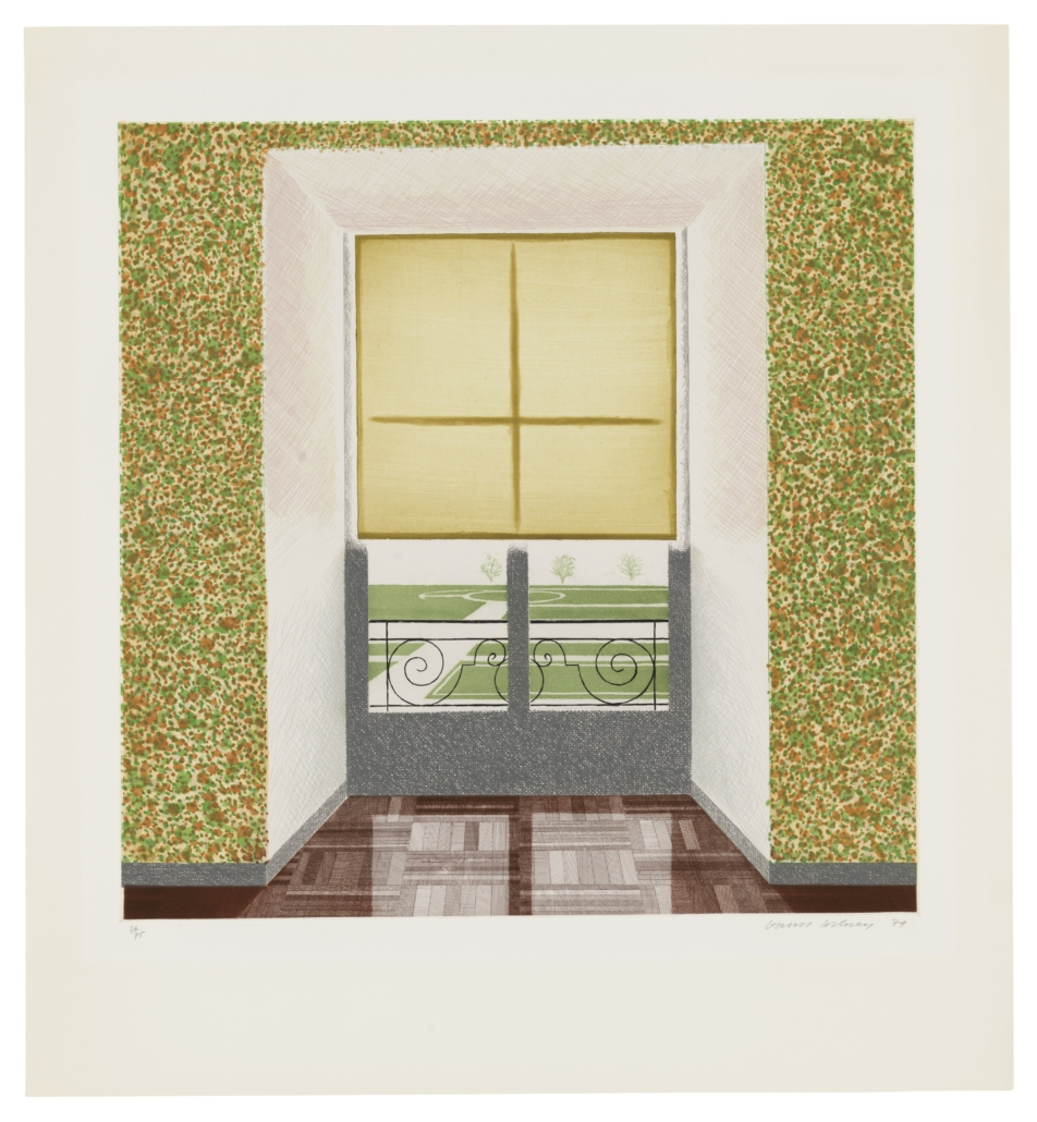 David Hockney's 'Contrejour in the French Style' sold for £93,750, more than double its high estimate of £26,000-£35,000