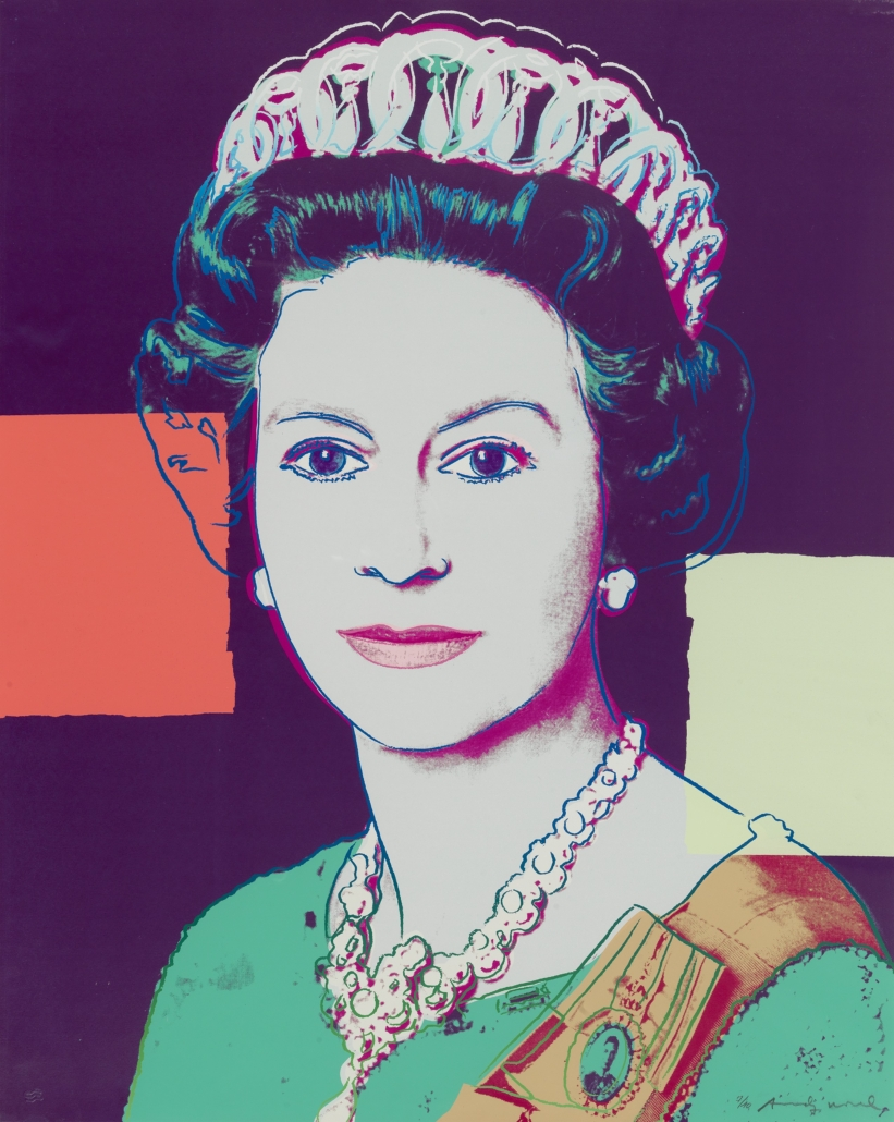 Andy Warhol, 'Queen Elizabeth II' from his 1985 series 'Reigning Queens (Royal Edition)', which sold for £275,000