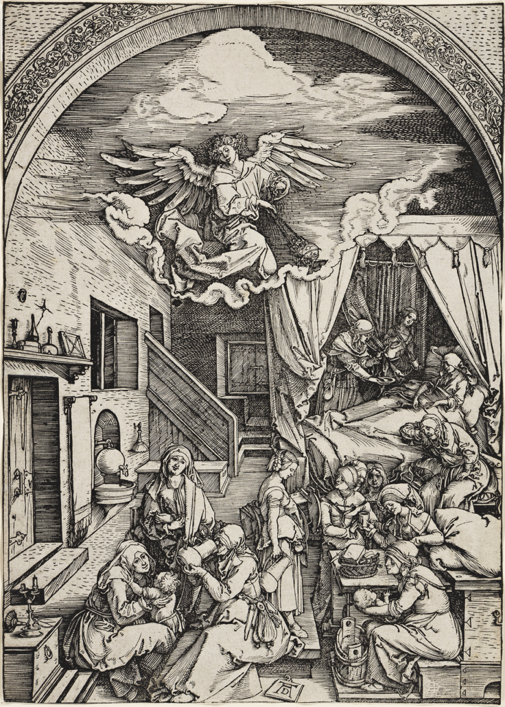 Albercht Durer, 'The Birth of the Virgin,' estimated at $15,000-$20,000