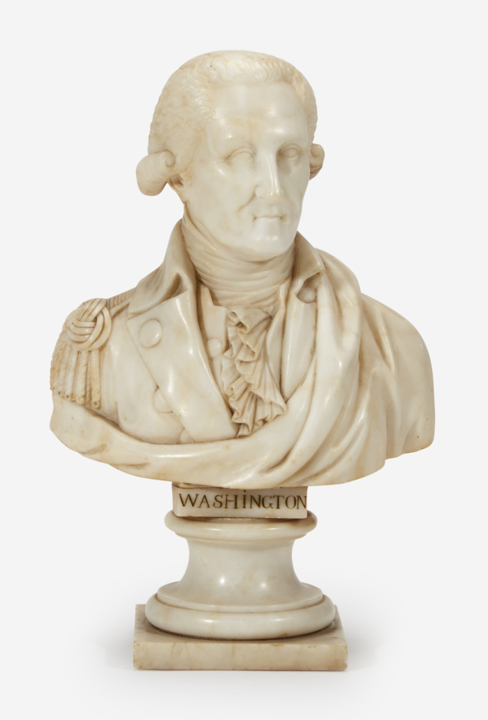 Marble bust of George Washington, which sold for $8,820