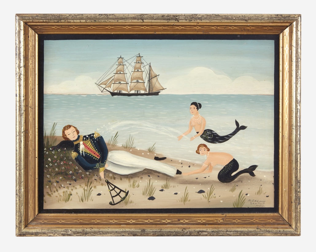 Ralph Cahoon, 'Washed Ashore,' undated, which sold for $32,760