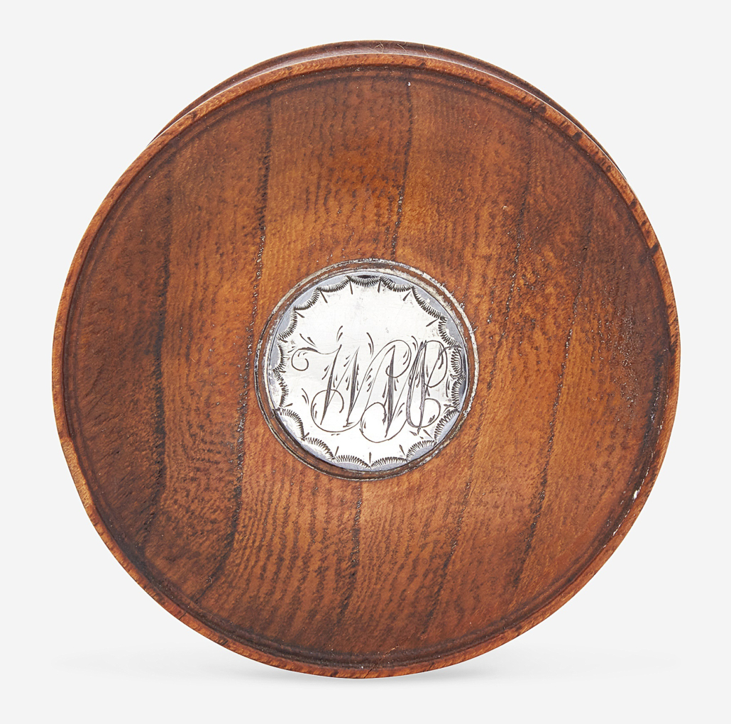 Patch box made from William Penn's 'Treaty Elm,' which sold for $4,410