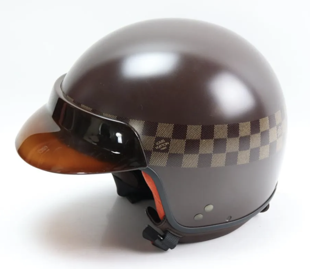 A Louis Vuitton motorcycle helmet, estimated at $1,500-$2,500