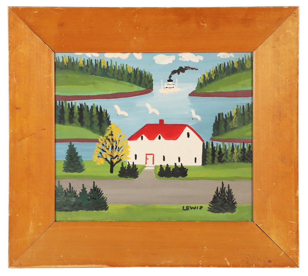 Oil on board painting by Maud Lewis, which sold for CAD $25,960