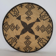 Large Yavapai woven basketry bowl or tray, estimated at $1,500-$1,800