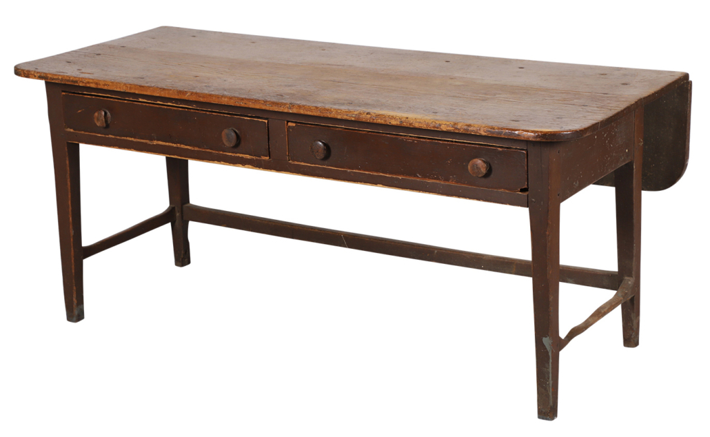 Ontario harvest table in its original paint, which sold for CAD $8,260