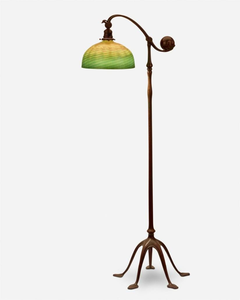 Tiffany Studios counter-balance floor lamp, sold for $17,500