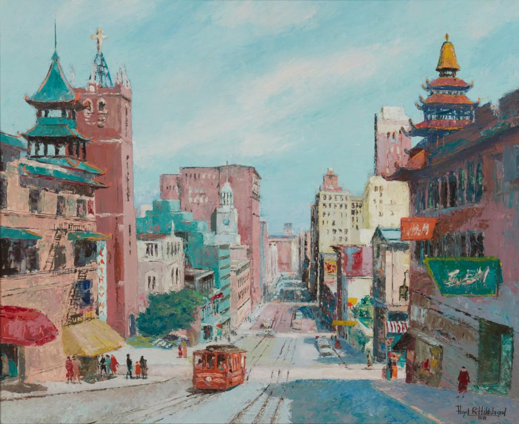 'California Street, San Francisco,' 1958, Floyd Hildebrand sold for $3,750