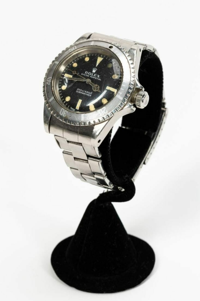Rolex stainless steel Oyster Perpetual Submariner wristwatch, which sold for $10,540