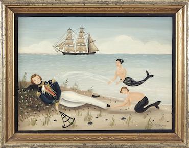 Ralph Cahoon marine painting swims to success at Freeman's