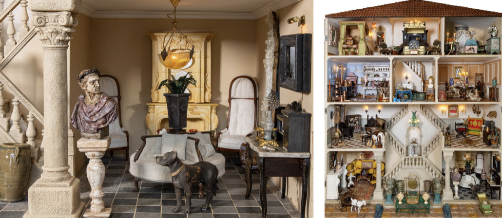Select miniature furnishings created for the exhibit, which opens May 8