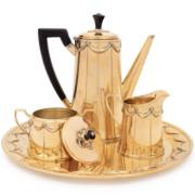 Circa 1950 Tiffany & Co. silver gilt four-piece coffee service, estimated at $2,000-$3,000