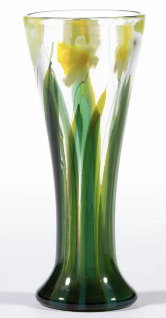 Tiffany Daffodil paperweight vase, which sold for $9,360