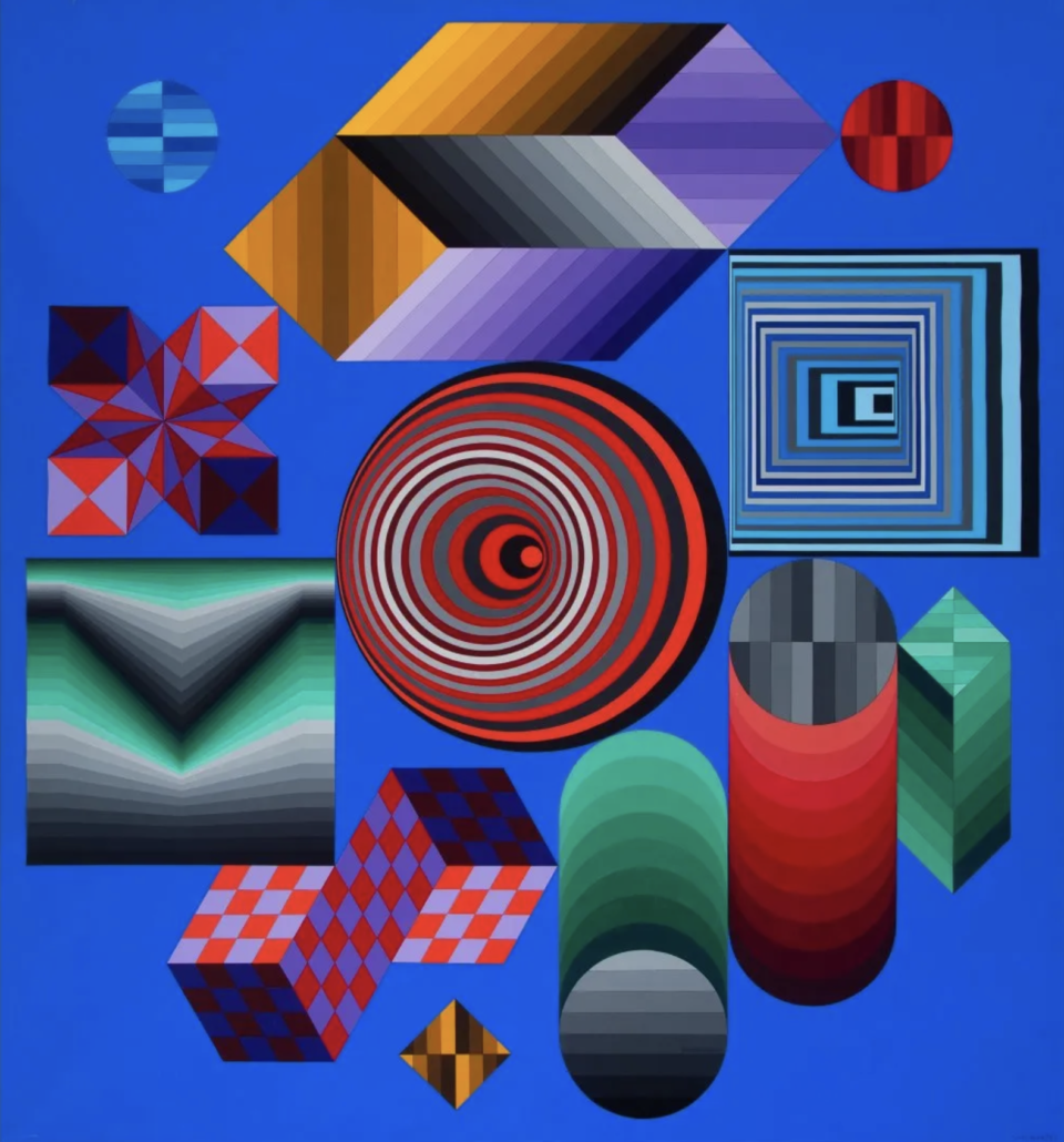 Victor Vasarely, 'CHOKK,' estimated at $200,000-$300,000