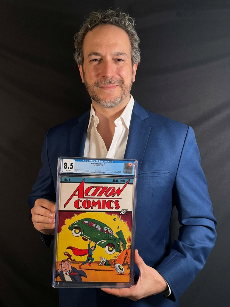 ComicConnect.com COO Vincent Zurzolo with the record-setting comic book