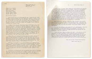 MLK letter triumphs at Swann printed and manuscript sale