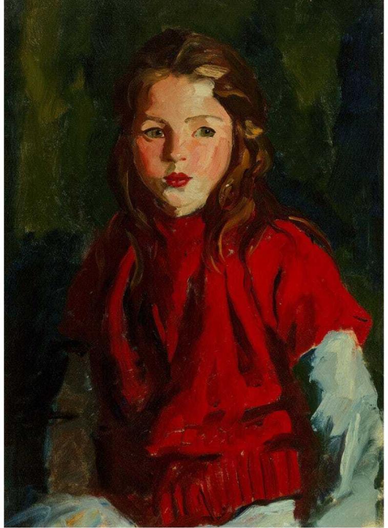 'Blond Bridget,' a 1928 Robert Henri portrait, achieved $160,000 plus the buyer's premium in July 2020 at Heritage Auctions.