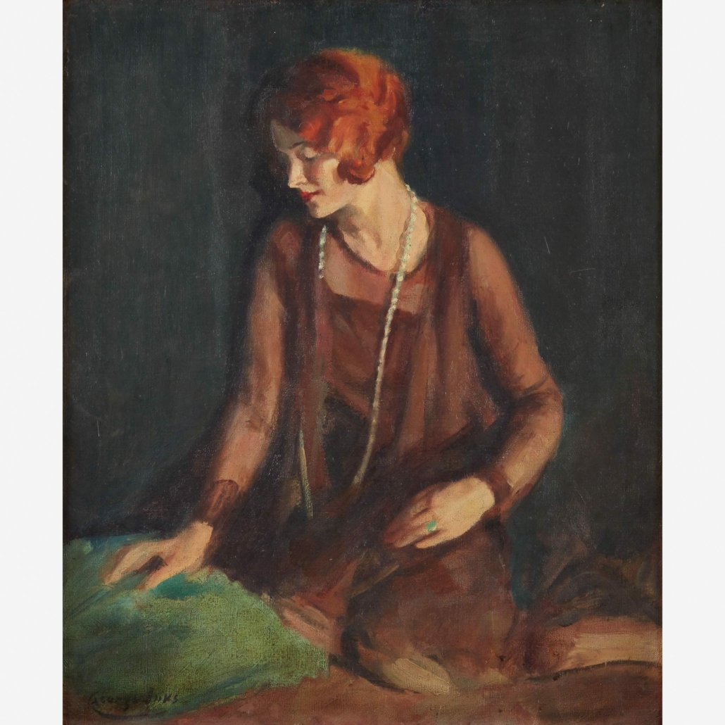 'The Redhead' by George Benjamin Luks fetched $11,000 plus the buyer's premium in December 2020 at Freeman's.