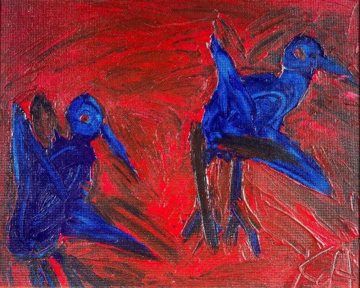 Kathy d'Adesky, 'Untitled,' an undated acrylic on canvas.