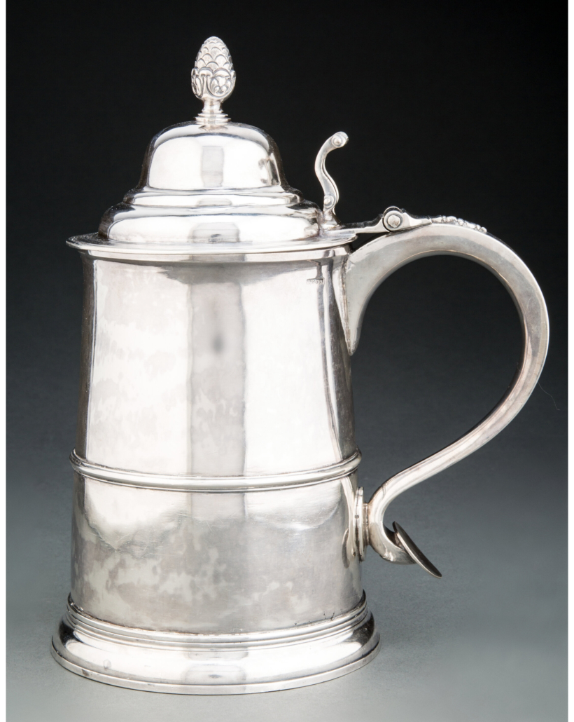 Paul Revere silver tankard, which sold for $112,500