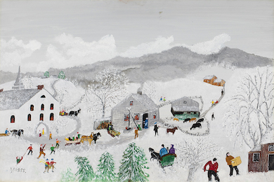 Fresh-to-market Grandma Moses painting is centerpiece of Everard June 8-9 auction