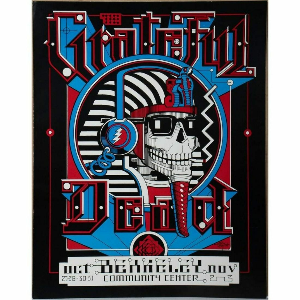 Grateful Dead 1984 poster, purchased from the artist, estimated at $200-$300