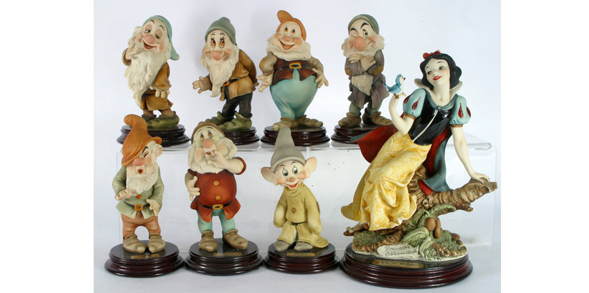 Giuseppe Armani porcelain set of Snow White and the Seven Dwarves, estimated at $600-$800