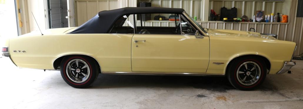 1965 yellow GTO, estimated at $35,000-$50,000