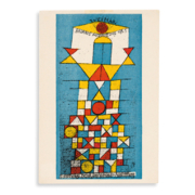 Paul Klee postcard promoting the first official Bauhaus exhibition, estimated at $4,000-$6,000