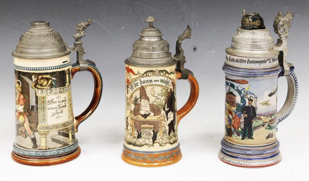 Collectors toast the artful history of German beer steins