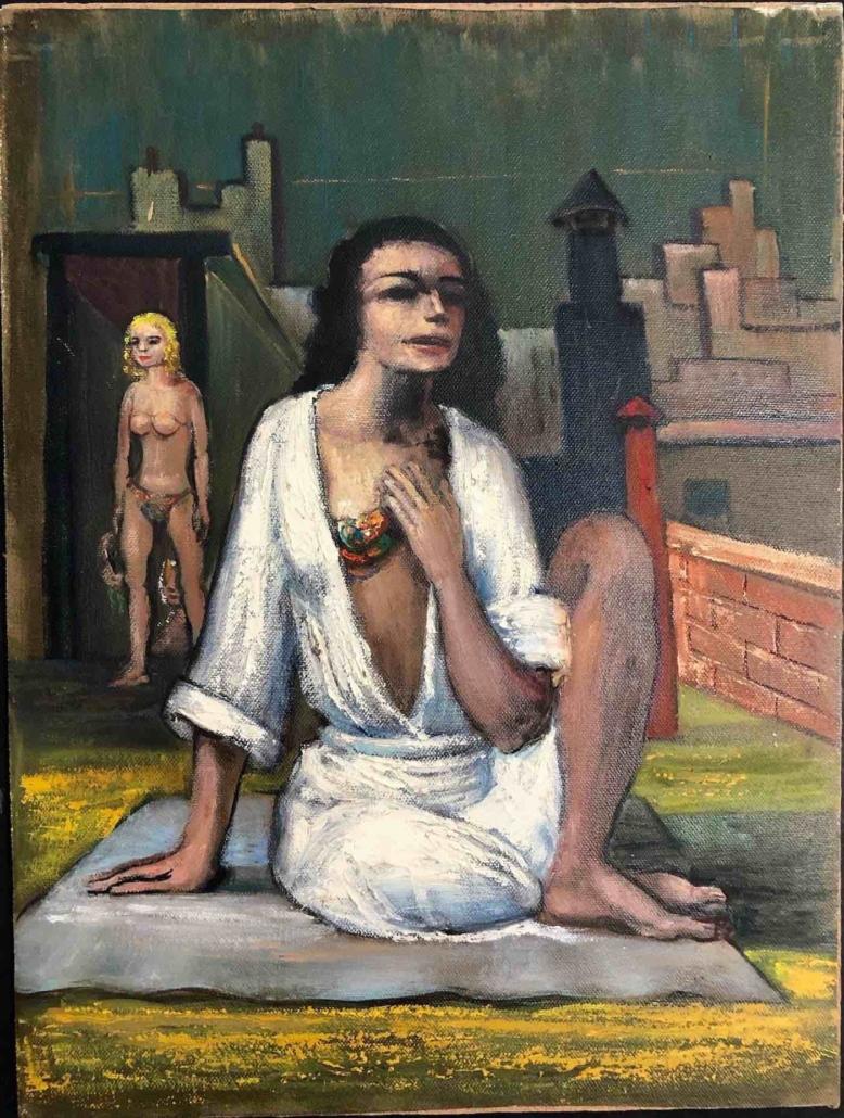 Albert Pels, 'Rooftop Nudes,'estimated at $300-$500