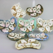 Set of eight crescent shaped oyster plates, estimated at $400-$600