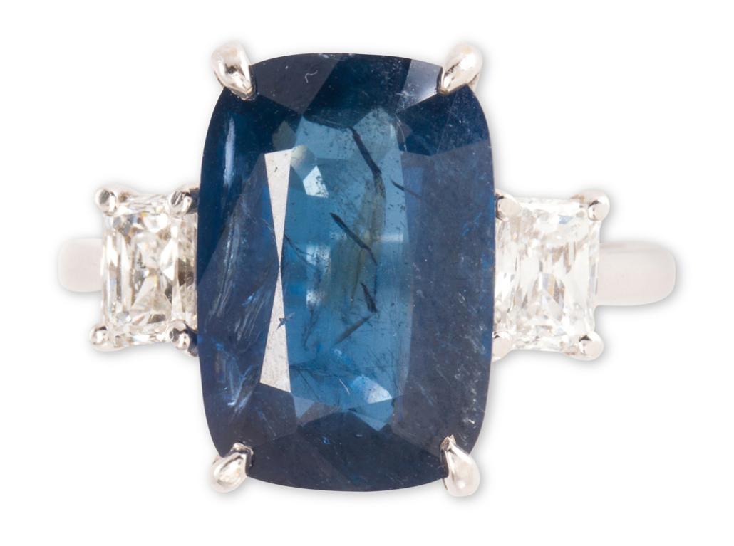 Burma sapphire ring, estimated at $18,000-$22,000