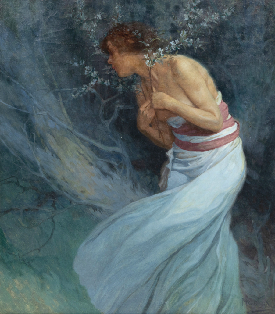 Alphonse Mucha, 'Woman with Flowering Branches,' which sold for $456,500 on May 3