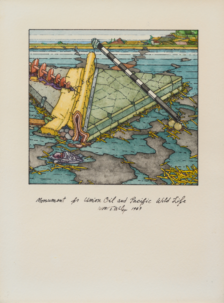William T. Wiley's 'Monument for Union Oil and Pacific Wild Life,' which sold for $34,375 on May 4