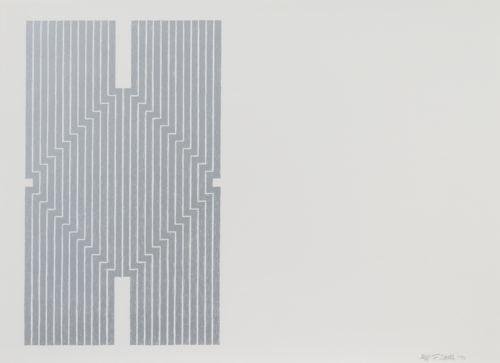 Frank Stella's complete 'Aluminum Series,' which sold for $75,000 on May 5