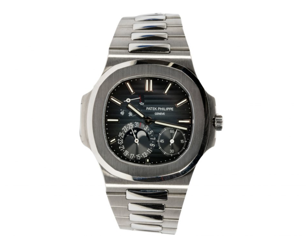 Patek Philippe stainless steel Nautilus wristwatch, estimated at $80,000-$100,000