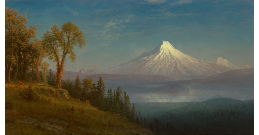 Albert Bierstadt, 'Mount St. Helens, Columbia River, Oregon,' which sold for $350,000
