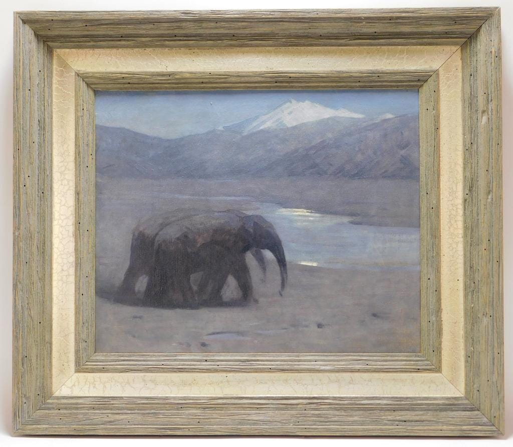 Arthur Wardle oil on canvas nocturne, estimated at $1,000-$2,000